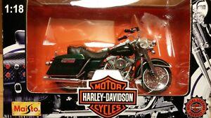 MAISTO 1/18 Scale Series 1 Motorcycle Die-Cast Harley-Davidson FLHR Road King