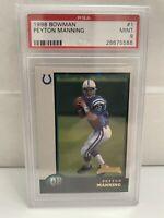 1998 Bowman Peyton Manning #1 PSA 9 Rookie Colts