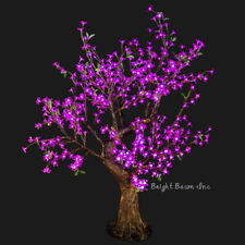 Xmas LED Cherry Tree 4.8-Feet Purple Christmas Tree Outdoor Landscape Event