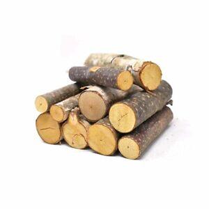 Assorted Birch Mini Logs, Natural, 10-Pierce