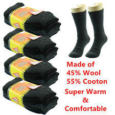 12 Pairs For Men Heavy Duty Winter Thermal WORK Boots Wool Crew Socks Size 9-13