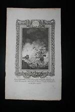 Raymond della storia dell' Inghilterra-Armada spagnola-Incisione su rame-c1783
