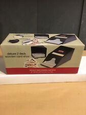 Deluxe 2 Deck Wooden Card Dealer Shoe – New Open Box