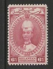 KELANTAN 1937 6c LAKE SG 44 MINT.