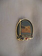 VR- IN MEMORY (US FLAG AT HALF) MAST PIN      #48253 (MINT CONDITION)