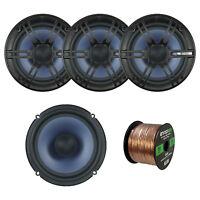 """4 x Enrock 6.5"""" 2-Way Car Speakers, Enrock Audio 16-Gauge 50 Foot Speaker Wire"""