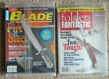 August 2001 Blade Magazine & Folders Fantastic Summer 2001 Nos Still Sealed