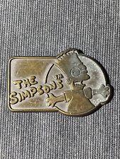 Vintage 1990 20th Centry Fox Brass Belt Buckle The Simpsons Bart Simpson