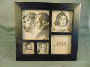 5 photo picture frame black plastic wood like frame family snapshots memories