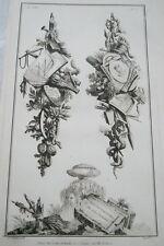 EAU FORTE JEAN CHARLES DELAFOSSE-VOYSARD CONCORDE ET FORTUNE TROPHEES 1772