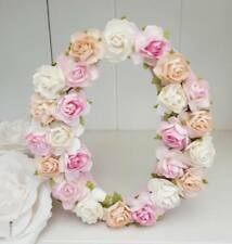 Floral personalised freestanding wooden roses 15cm any letter/name plaque gift