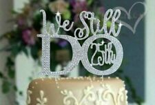"""""""25th"""" Wedding Anniversary Cake Topper made with Silver Crystal Rhinestones"""