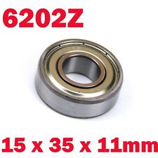 6202Z 6202 Z Dual Metal Shields Deep Groove Radia Ball Bearing 15 x 35 x 11mm US