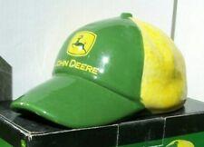 JOHN DEERE Cute FARMERS BALL CAP SHAPE CERAMIC BANK NEW IN BOX