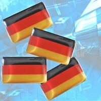 Bandera Alemana Pegatina X 4 Deutsch Logotipo para BMW Audi VW Porsche Mercedes