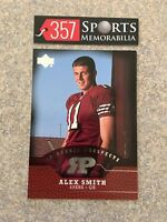 ALEX SMITH  2005 UPPER DECK ROOKIE PROSPECTS SILVER FOIL ROOKIE CARD 49ERS