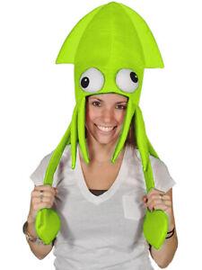Novelty Green Squid Octopus Hat Costume Party Hat Cap