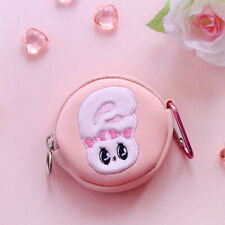 Lovely Esther Bunny Neoprene Airpod Case Key Ring Bag Charm Mini Round Pouch