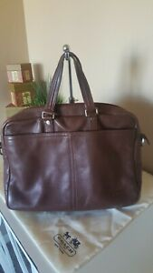 Coach Brown Leather Handbag Satchel XL Briefcase w/ Dustbag Embed A1269-F70354