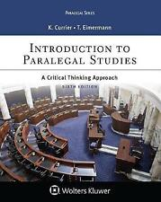 Introduction to Paralegal Studies: A Critical Thinking Approach (Aspen Paralegal