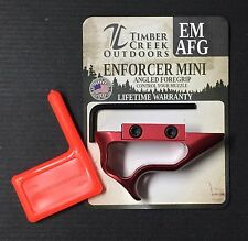 TIMBER CREEK OUTDOORS - ANODIZED RED ENFORCER MINI FOREGRIP HAND STOP EM AFG