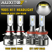 AUXITO 9005 H11 LED Headlight Bulb Hi Lo beam for Nissan Titan XD 2016 2017 2018
