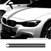 Black Car Hood Bonnet Racing Stripes Decals Engine Cover Stickers For Bmw sp