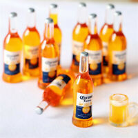 10 Pcs Dollhouse Miniature 1:6 Model Wine Drink Corona Beer Alcohol Bottles