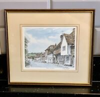 WEST WYCOMBE SIGNED LIMITED EDITION PRINT OF A WATERCOLOUR GLYNN PHILIP MARTIN