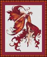 Autumn fairy belle cross stitch kit