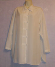 Ladies ivory feature fastening long blouse Size16