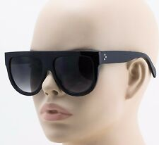 Shadow Sunglasses Black Womens Square Oversized Round Half Large Big 41026