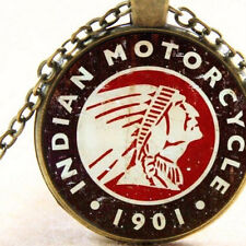 New Indian Motorcycle 1901, Necklace Pendant Vintage Style, Motorbike Xmas Gift