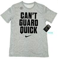 Nike Dry Tee Shirt Mens Dri-Fit Can't Guard Quick Grey Black AQ5467-063 NWT