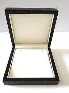 Luxury Wood  Piano BLACK Earrings/Pendant Jewellery Gift Box-CO6PE