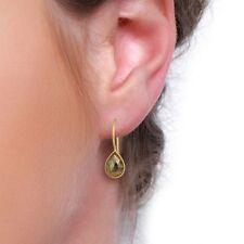 Pyrite Gemstone 925 Silver Dangle Hook Earrings Handmade Fashion Jewelry