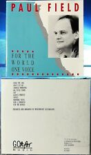 Paul Field - For The World One Voice (CD,1990,Go For Music,German INDIE)MEGARARE