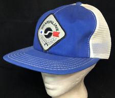 Vtg Silverline Boats Mesh Trucker Hat Snapback Big Patch Company Logo Cap Blue