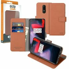 Orzly OnePlus 6 Smartphone Multi-functional Wallet Phone Case Cover Brown