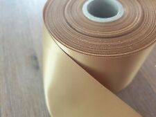 Gold Single Sided satin ribbon 72mm