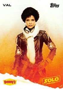 Star Wars Denny's Exclusive Solo Movie Val Trading Card FREE SHIPPING