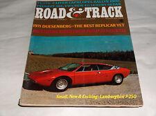 Vtg 1971 Carretera & PISTA COCHE REVISTAS Duesenberg Lamborghini P250 Capri OPEL