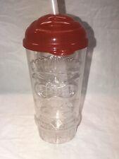 Great Wolf Lodge Tiki Souvenir Plastic Mug Cup Straw