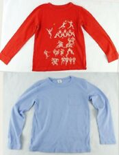 CREWCUTS Boys Lot of 2 Long-Sleeve T-Shirt Size 8 Red Football Blue