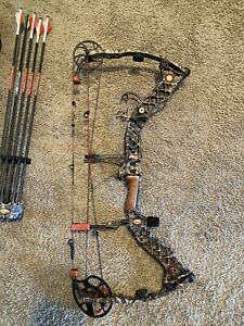 Matthew Compound Bow z7 Left Hand 28 Inc Draw 80% And Quick Release Quiver Only