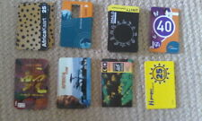 8 PHONECARDS - PIN / TOP UP / SIM OUTER CASE - PHONE CARDS