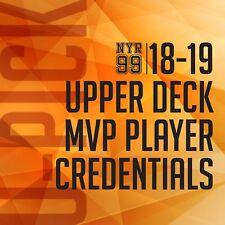 18-19 Upper Deck MVP Player Credentials Level 1 U-Pick from List #1-100