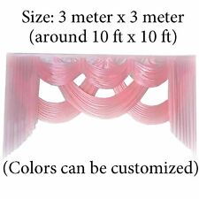 Pink wedding backdrop swags decoration 10ft length swags for stage background