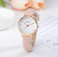 Reloj De Pulsera Mujer Oro Rosa Rosado Brillo Diamantes Imitación