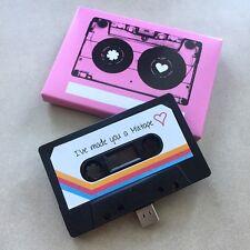 16GB USB CASSETTA, regalo, Girlfriend, Carino, playlist, musica, amore, regalo per lei